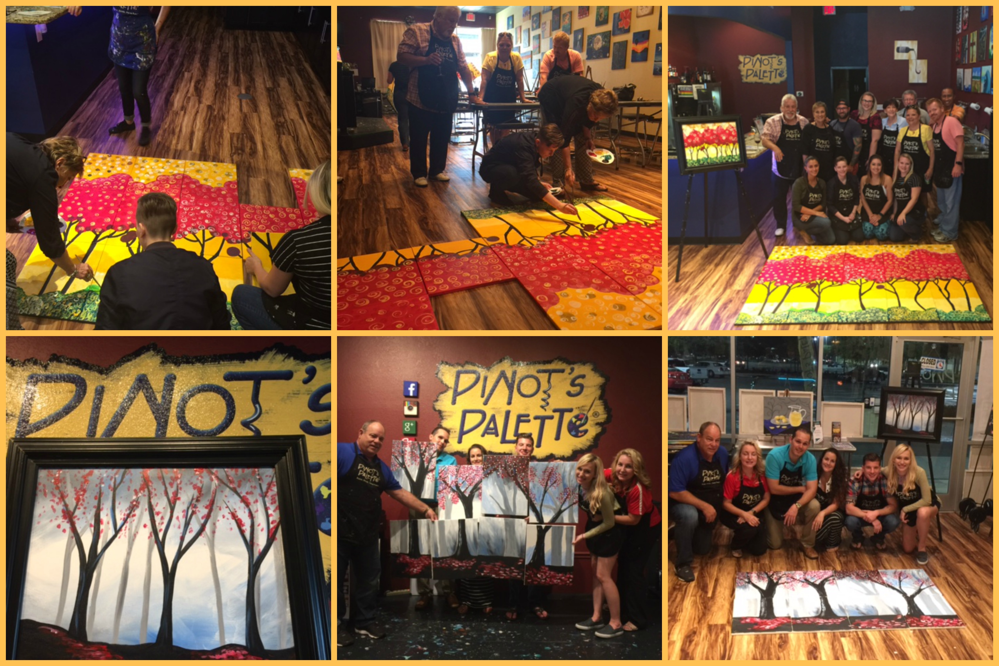 fun corporate team building ideas - pinot's palette