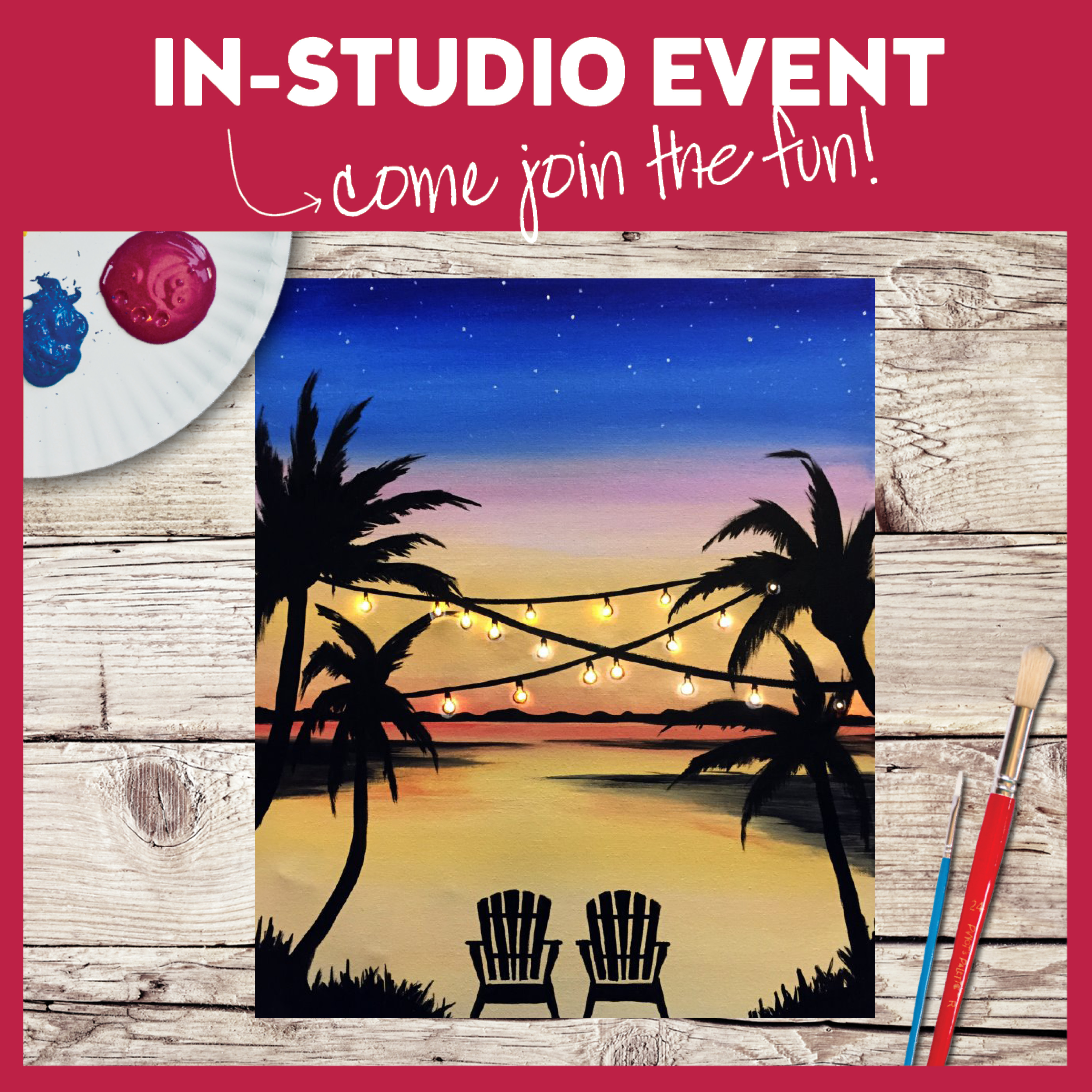 HOT NEW PAINTING! ILLUMINATED In Studio Class! Limited Seating!