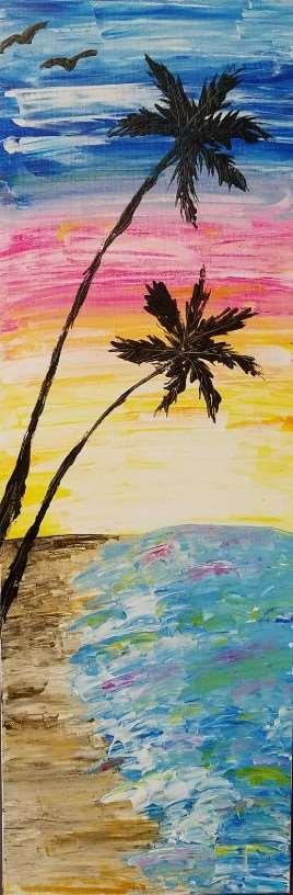 Bohemian Beach Palette Knife Painting!