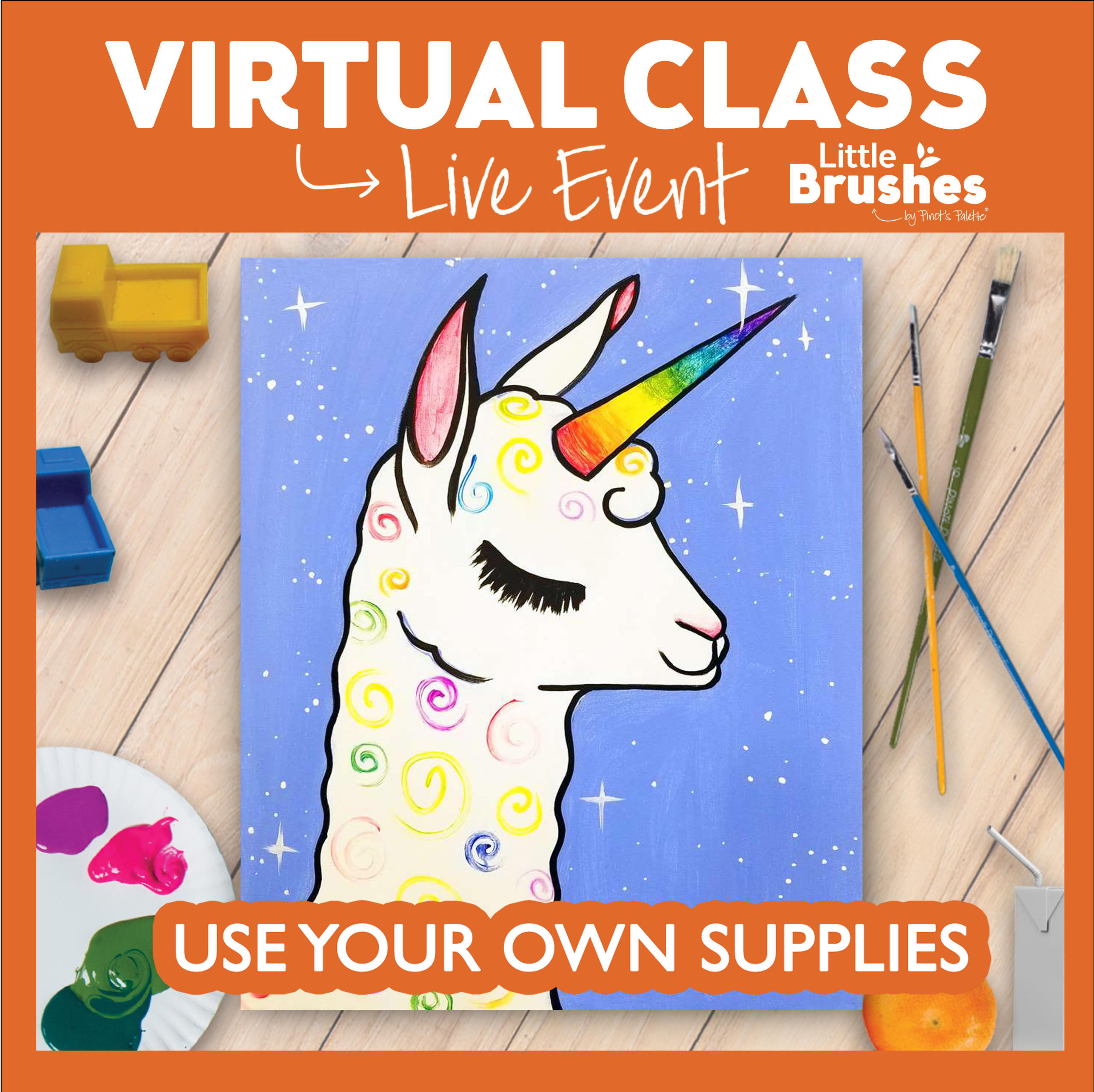 $10 Use Your Own Supplies Virtual Class!