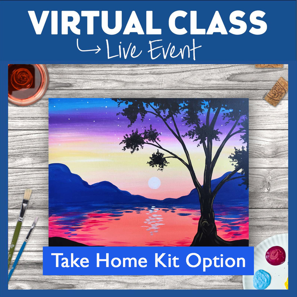 Virtual Class with Take Home Kit!