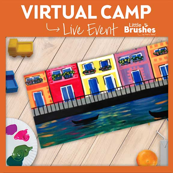 Kids' Live Virtual Painting Camp!