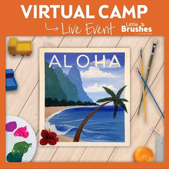 Live Virtual Painting Camp! 6 Years Or Older.