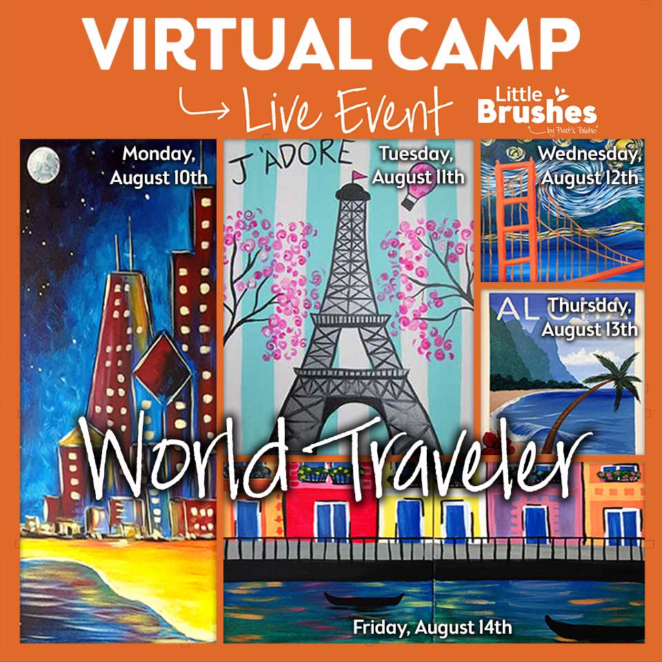 Full Week of Kids' Virtual Painting Camp! All Materials Included.