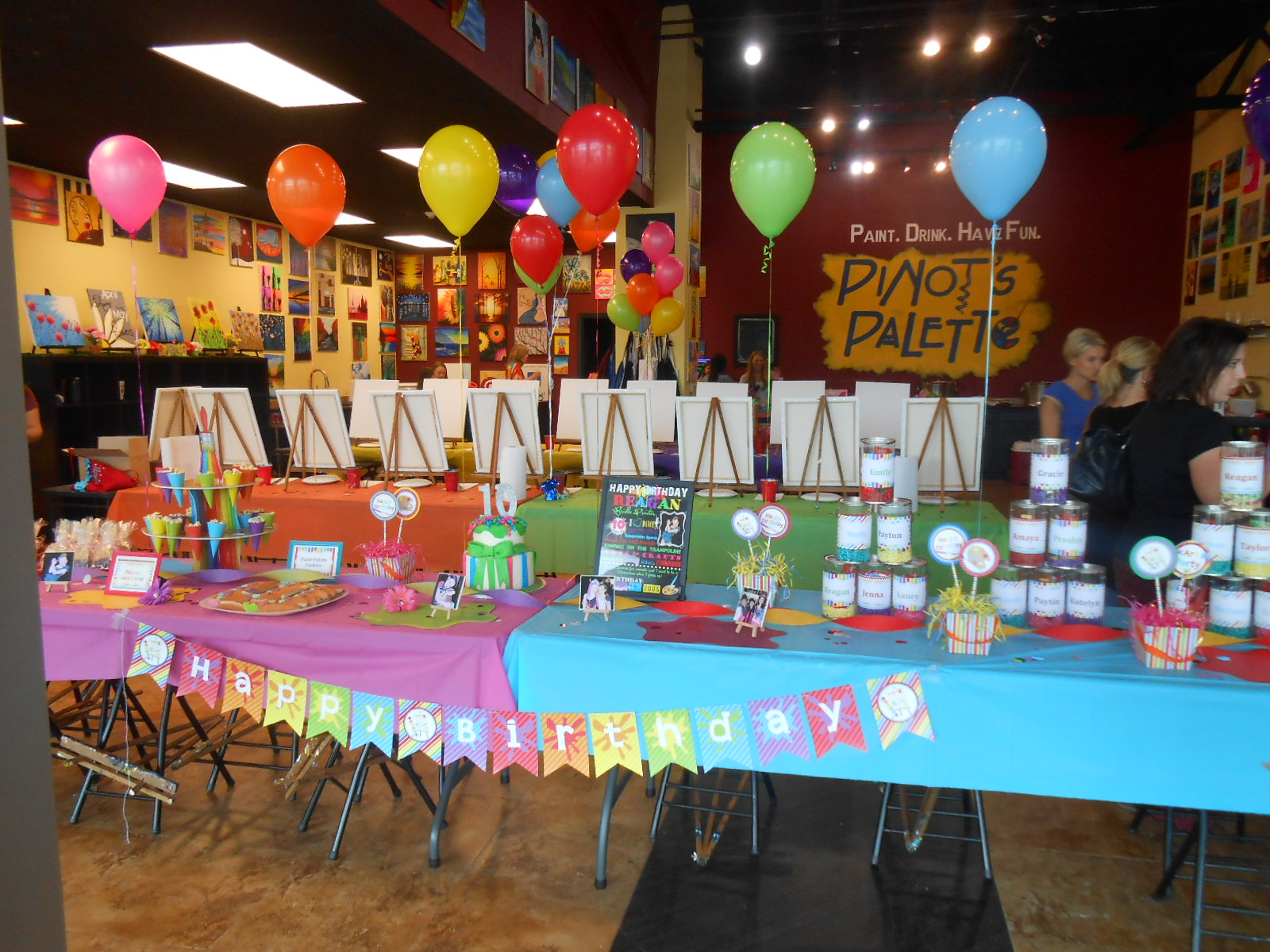 Colorful Art Birthday Party!