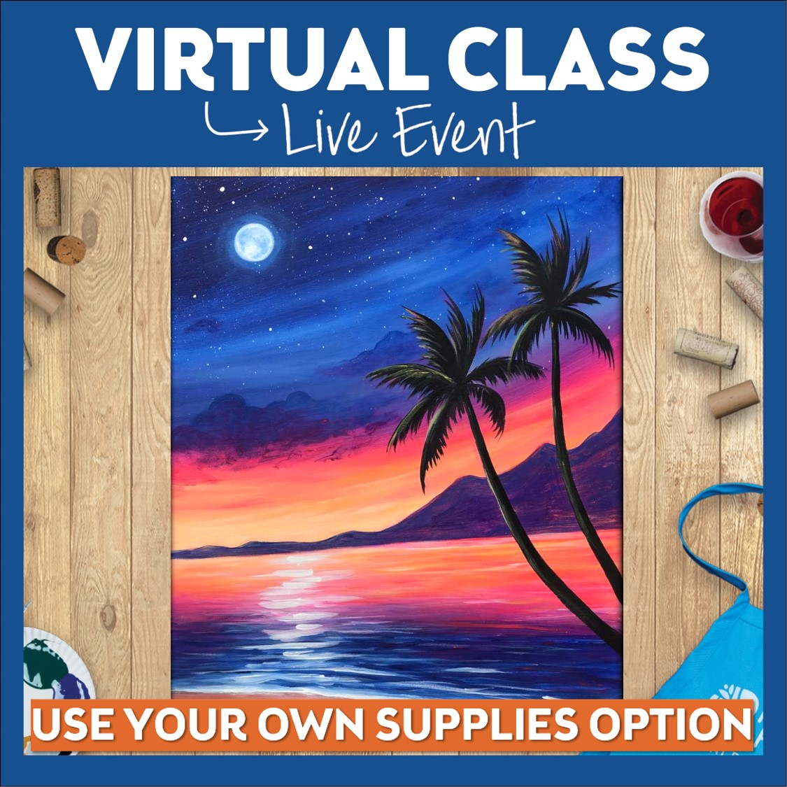 LIVE Virtual Public Class - No Supplies Included
