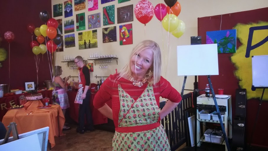 How to Host a Dazzling Wine and Paint Party at Pinot's Palette The Woodlands