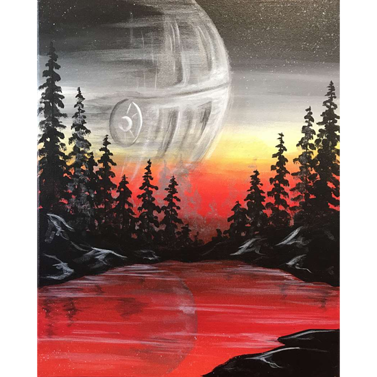 STAR WARS DAY! - DISTURBANCE IN THE GALAXY - CHOOSE YOUR CANVAS SIZE