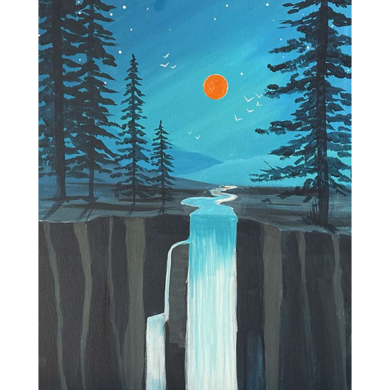 MOONLIGHT CASCADE - CHOOSE YOUR SURFACE AND SIZE